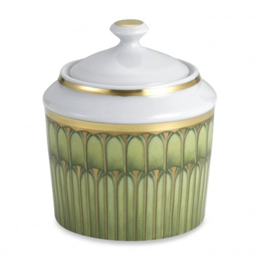 Philippe Deshoulieres Arcades Green Sugar Bowl