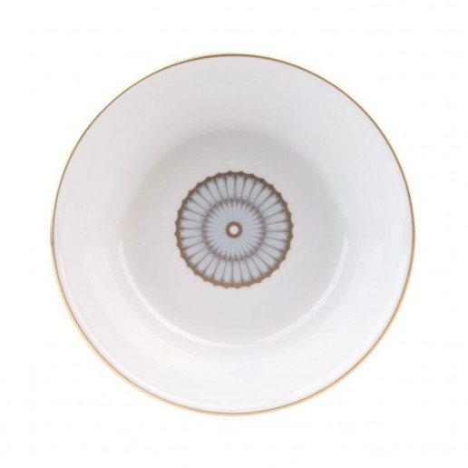 Philippe Deshoulieres Arcades Grey & Gold Deep Cereal Plate