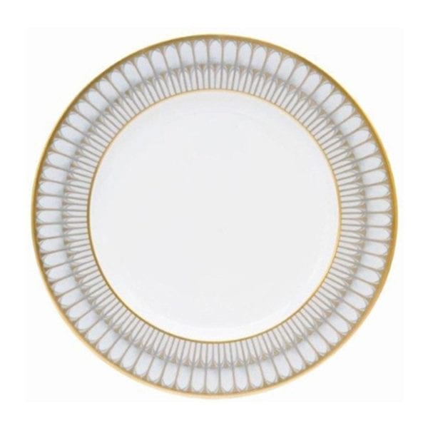 Philippe Deshoulieres Arcades Grey & Gold Dinner Plate