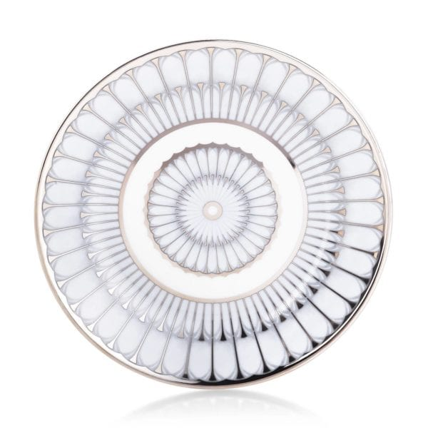 Philippe Deshoulieres Arcades Grey & Platinum Bread and Butter Plate