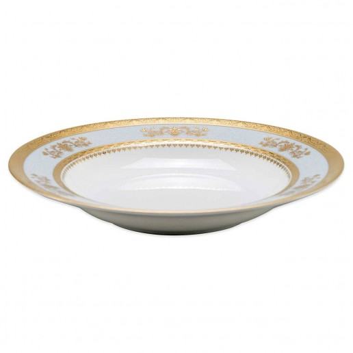 Philippe Deshoulieres Orsay Powder Blue Rim Soup Bowl