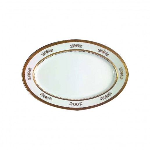 Philippe Deshoulieres Orsay White Oval Flat Platter