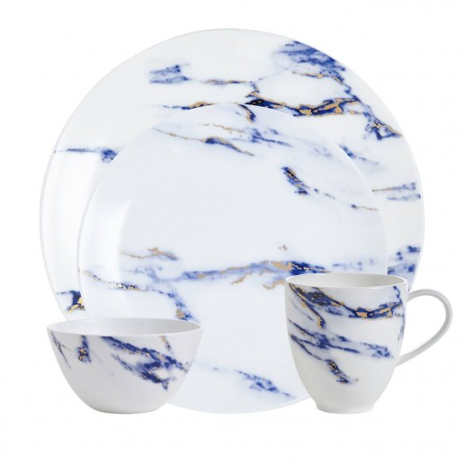Prouna Marble Azure Four Piece Place Setting