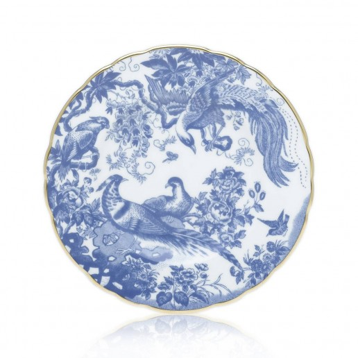 Royal Crown Derby Blue Aves Bread and Butter Plate