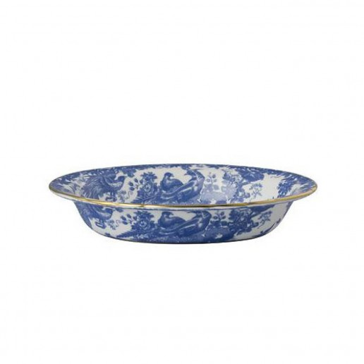 Royal Crown Derby Blue Aves Open Vegetable