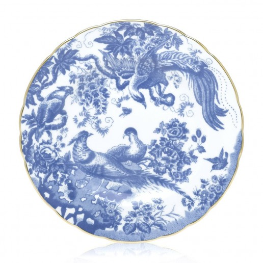 Royal Crown Derby Blue Aves Salad Plate
