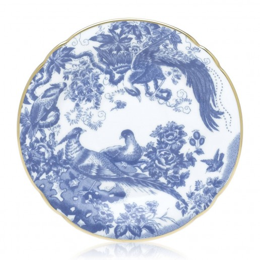 Royal Crown Derby Blue Aves Saucer