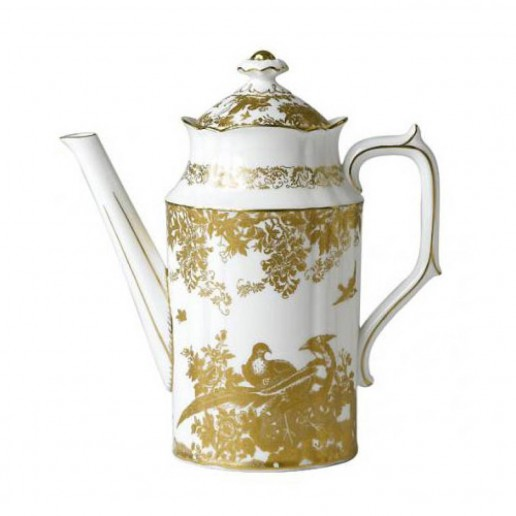 Royal Crown Derby Gold Aves Coffee Pot