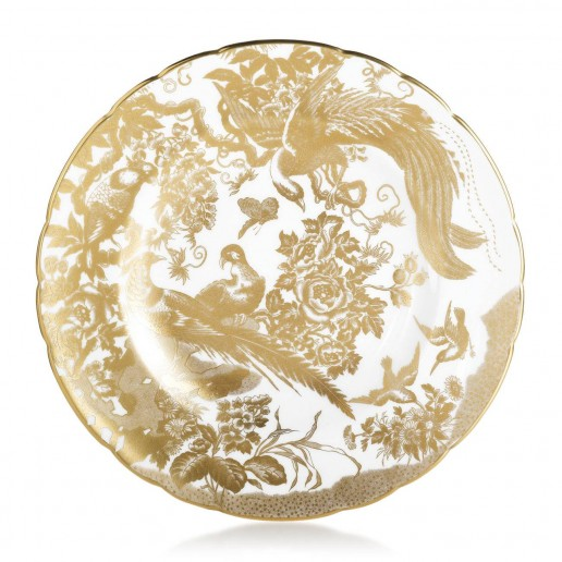Royal Crown Derby Gold Aves Dinner Plate