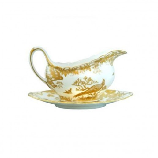 Royal Crown Derby Gold Aves Gravy Boat