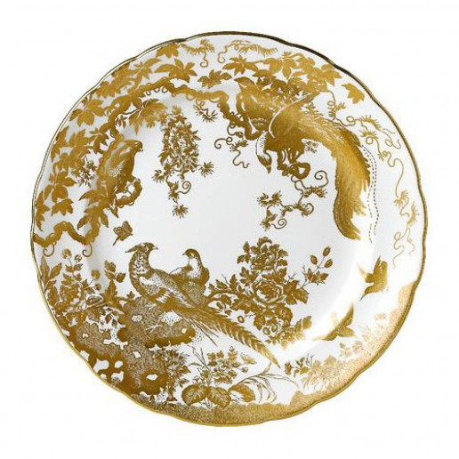 Royal Crown Derby Gold Aves Service Plate
