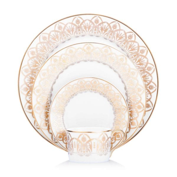 Royal Limoges Oasis White Five Piece Place Setting