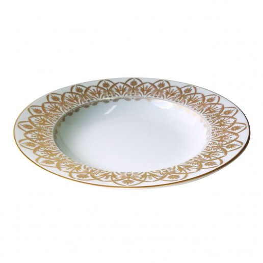 Royal Limoges Oasis White Rim Soup Plate