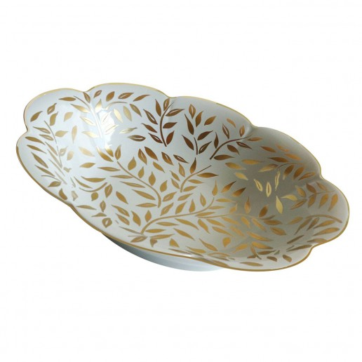 Royal Limoges Olivier Gold Open Vegetable