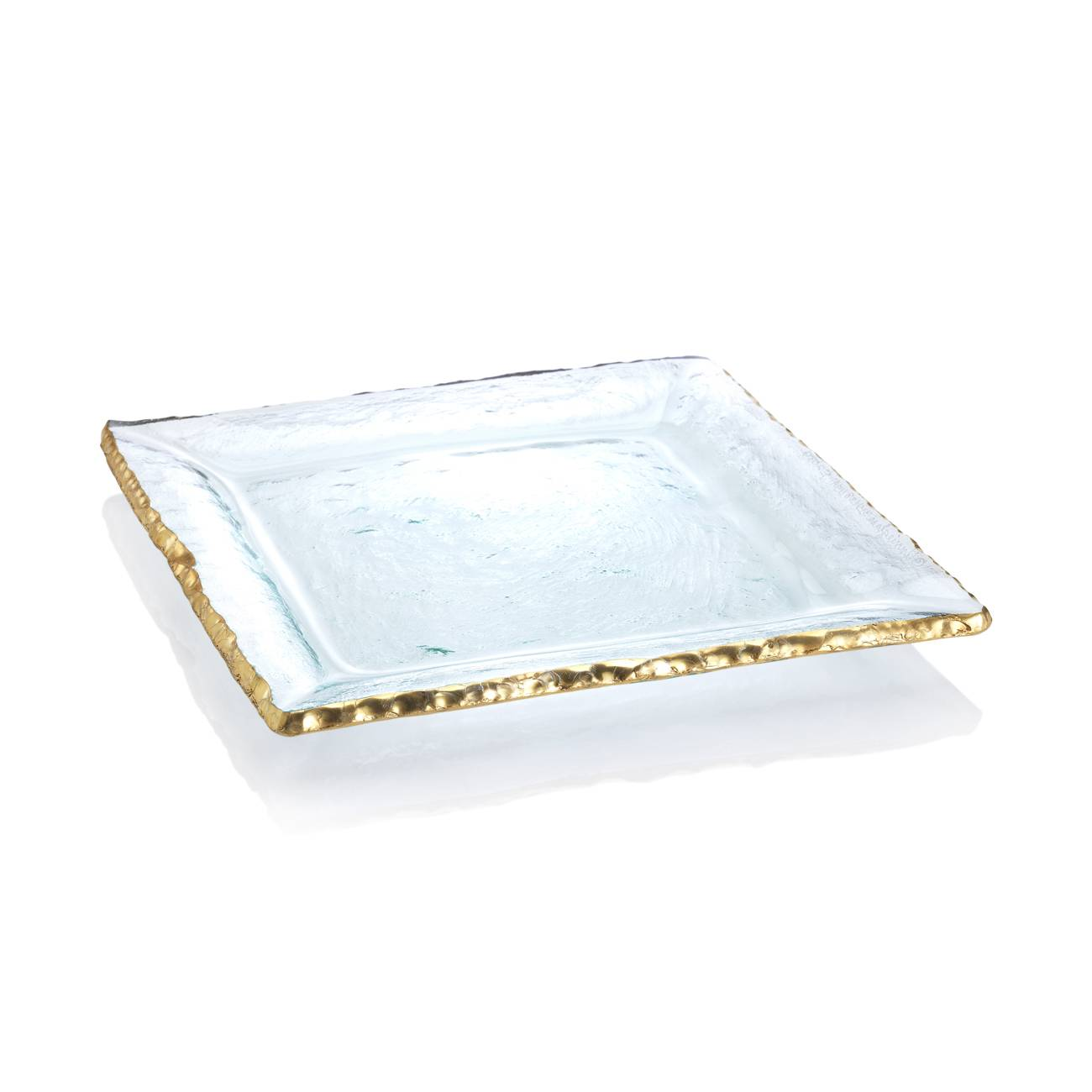 Annieglass Edgey Gold Square Platter