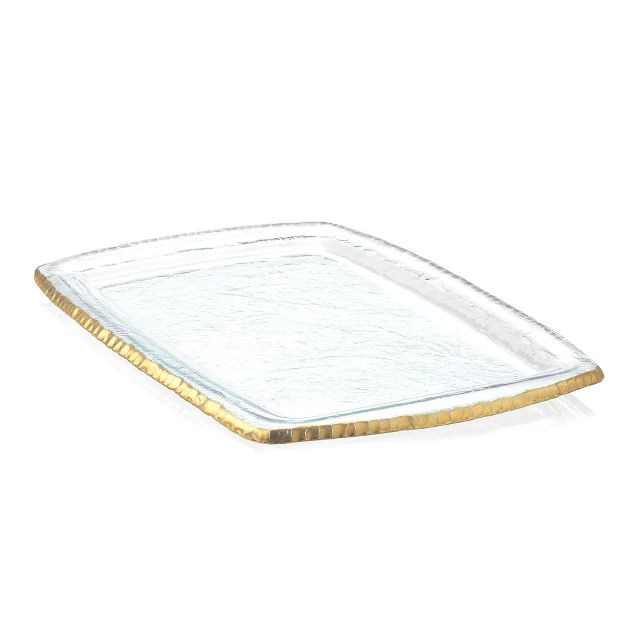 Annieglass Edgey Gold Martini Tray
