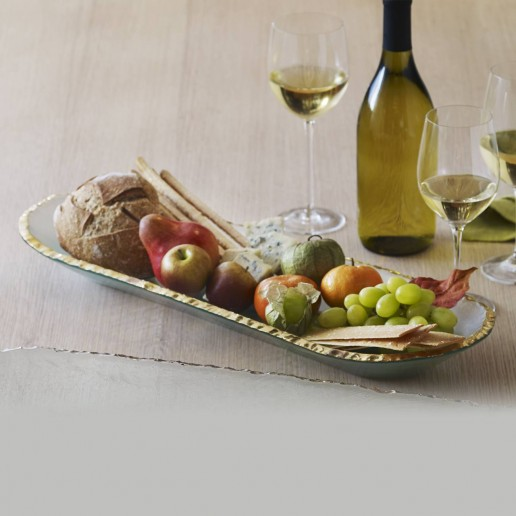 Annieglass Edgey Gold Baguette Tray
