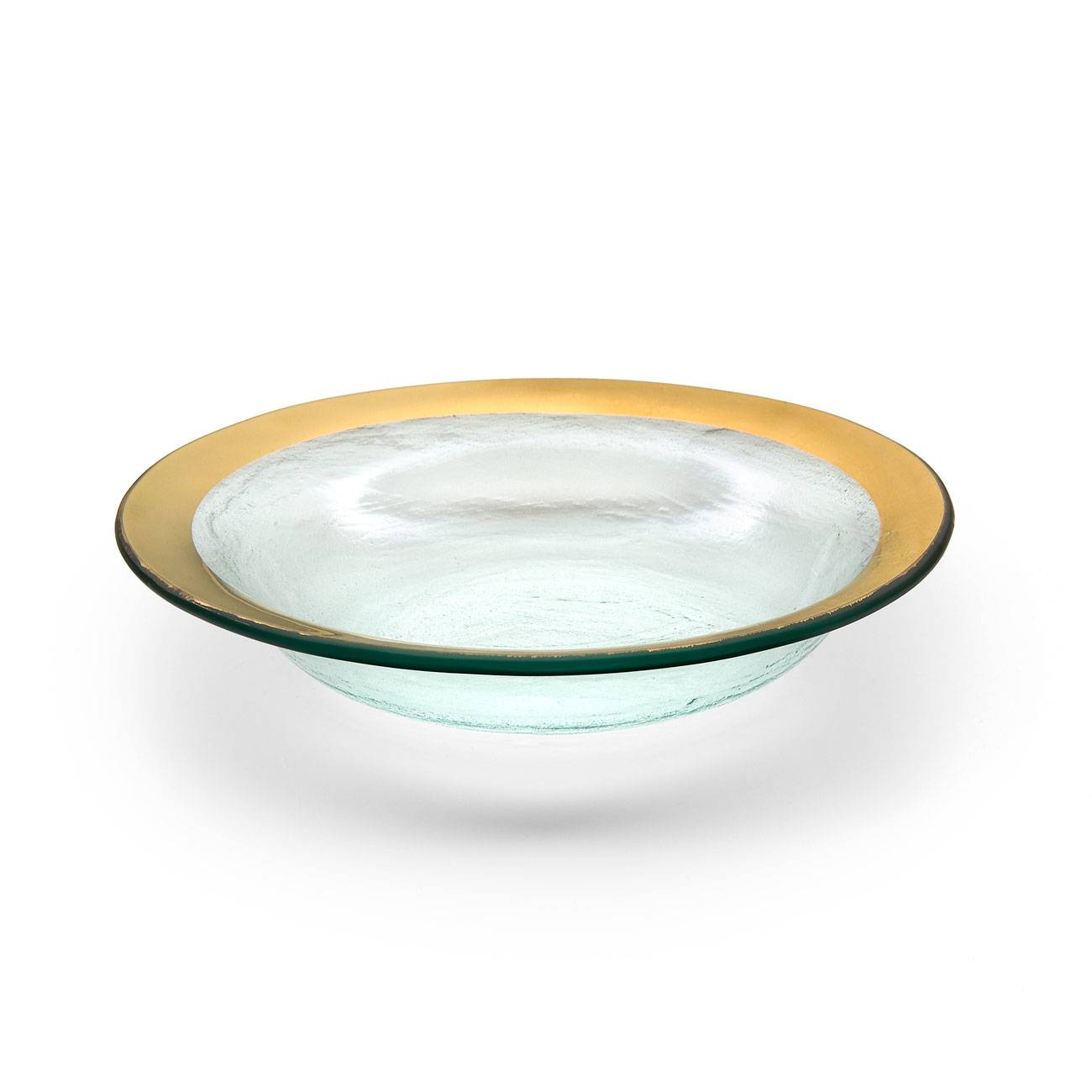 Annieglass Roman Antique Gold Deep Bowl