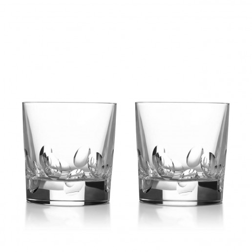 Christofle Cluny Double Old Fashioned Glass Set of 2
