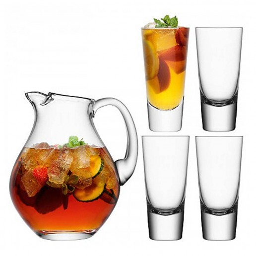 LSA International Bar Punch Jug With Set Of 4 Glasses