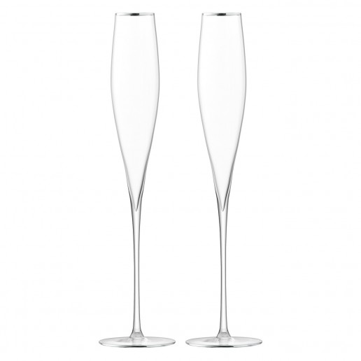 LSA International Celebrate Toasting Flute Platinum, Set of 2