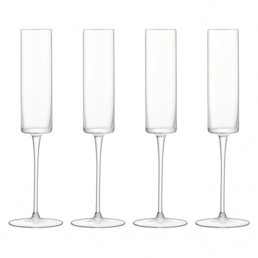 LSA International Otis Champagne Flute, Set of 4