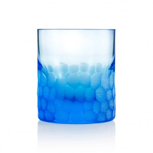 Moser Pebbles Double Old Fashioned, Aquamarine