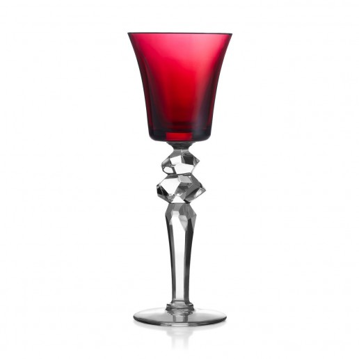 Saint-Louis Crystal Excess White Wine Glass, Red