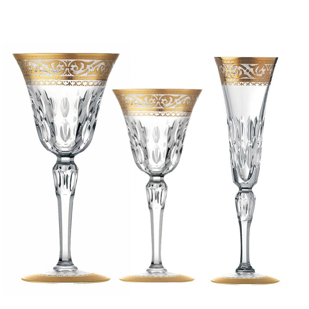 Saint-Louis Crystal Stella Gold Decorated  Collection