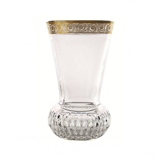Saint-Louis Crystal Thistle Gold Small Vase