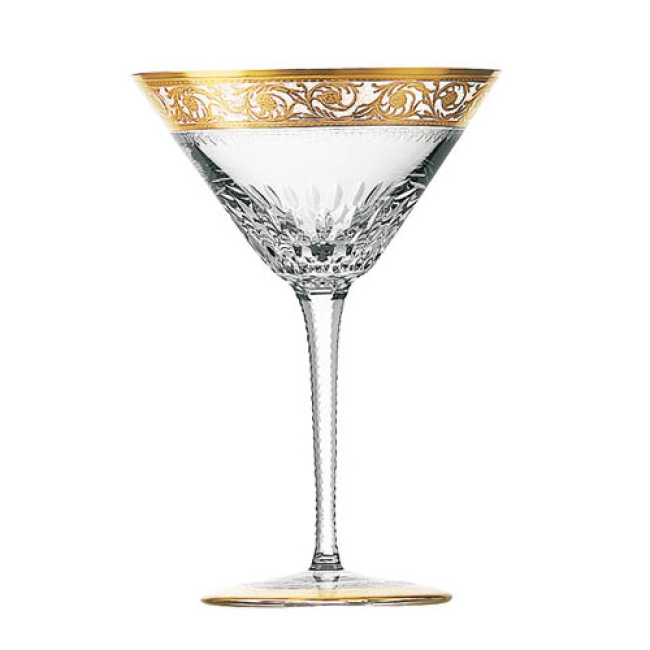Saint-Louis Crystal Thistle Gold Martini