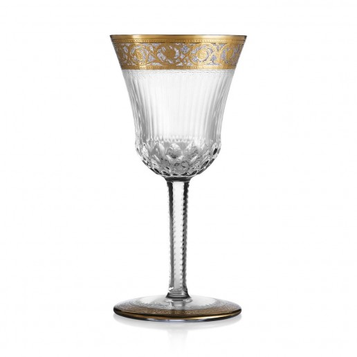 Saint-Louis Crystal Thistle Gold Tall Sherry
