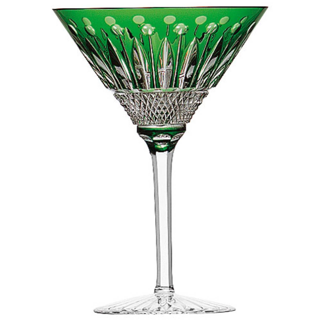 Saint-Louis Crystal Tommy Martini Glass, Green
