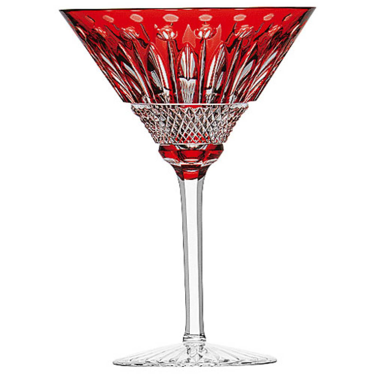 Saint-Louis Crystal Tommy Martini Glass, Red