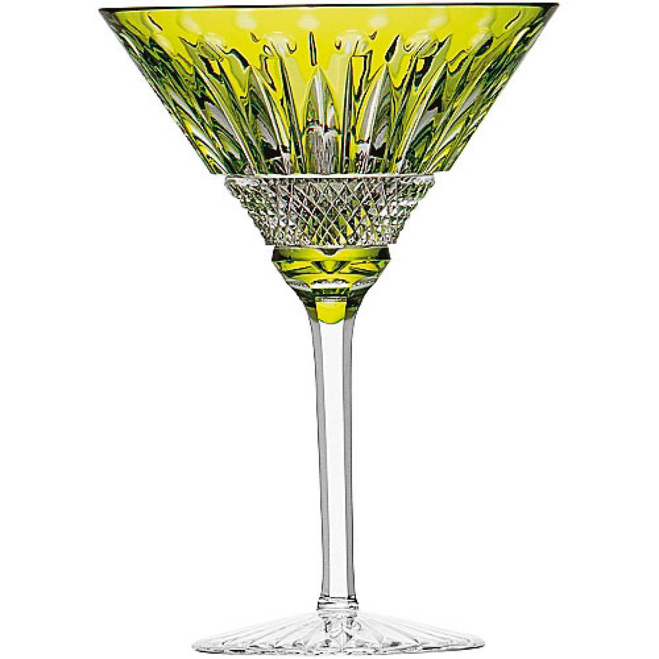 Saint-Louis Crystal Tommy Martini Glass, Chartreuse