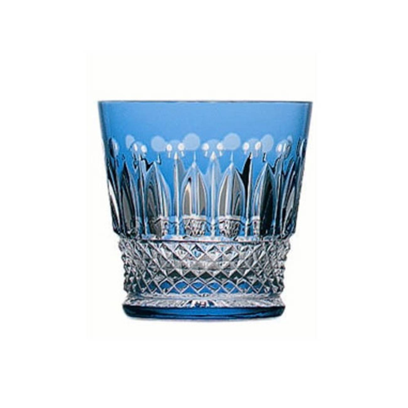 Saint-Louis Crystal Tommy Old Fashioned, Sky Blue