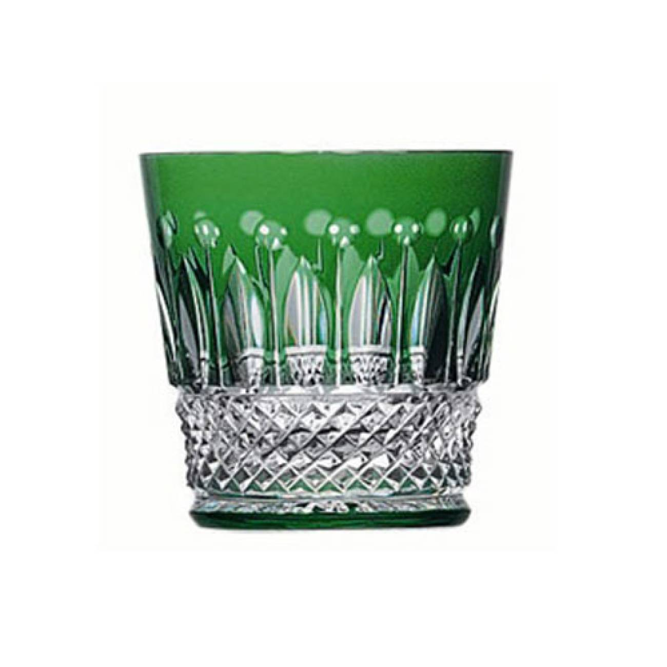 Saint-Louis Crystal Tommy Old Fashioned, Green