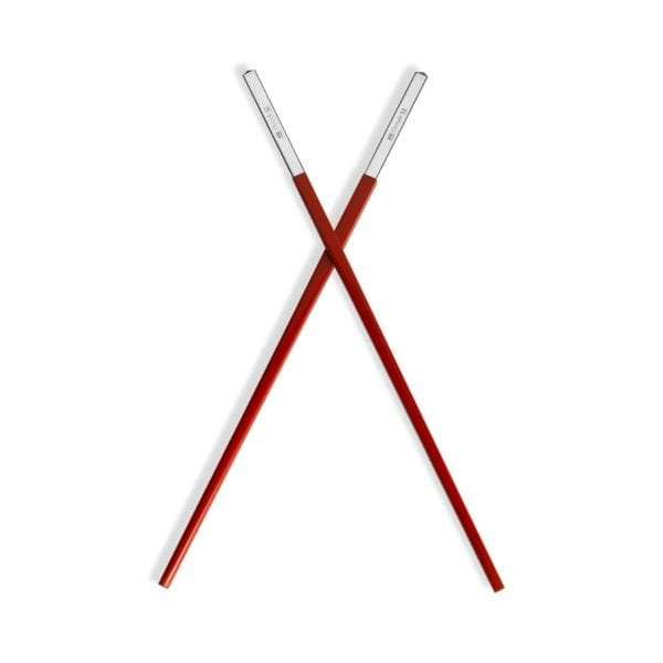 Christofle Silver Plated Uni Red Chinese Chopsticks
