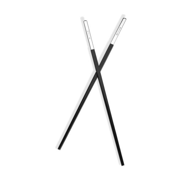 Christofle Silver Plated Uni Black Chinese Chopsticks