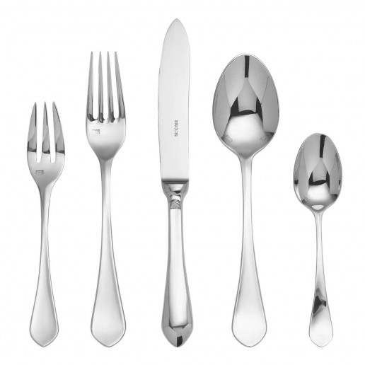 Ercuis Citeaux Silver Plated Five Piece Dinner Setting