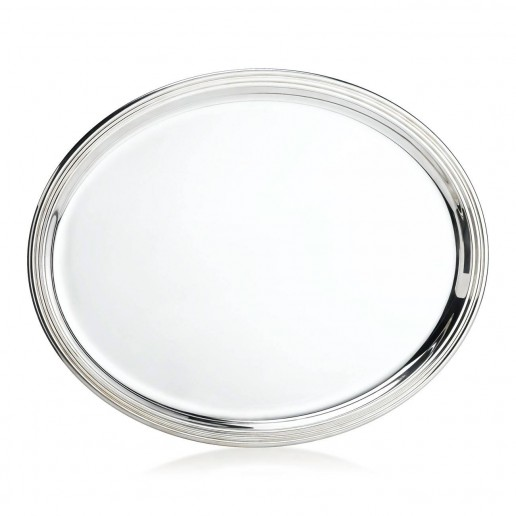Michael C. Fina English Silver Plated Oval Tray