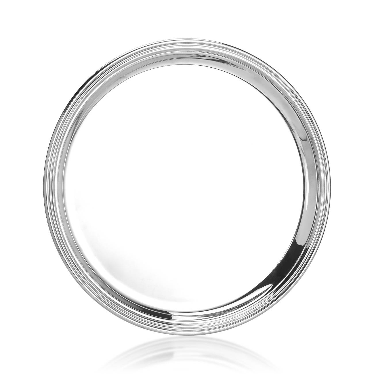 Michael C. Fina English Silver Plated Round Tray