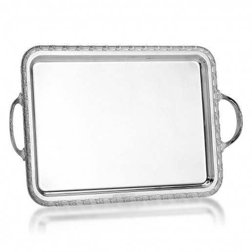 Michael C. Fina  Villa D'Este Silver Plated Rectanguar Tray With Handles