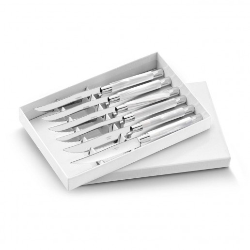 Capdeco Conty White Steak Knives Set of 6