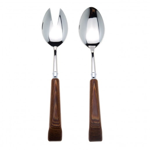 Capdeco Orio Wood Salad Serving Set