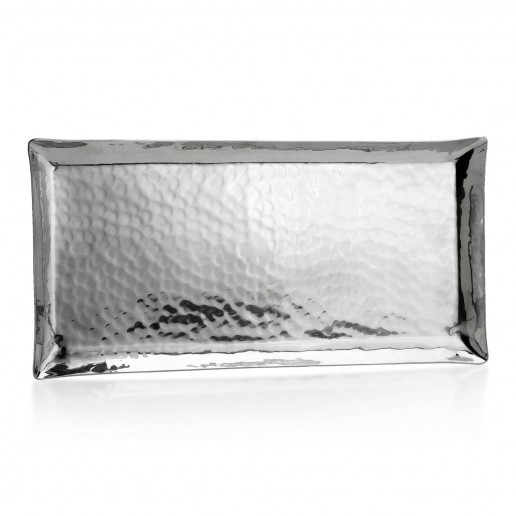 Mary Jurek Design Aurora Stainless Steel Medium Rectangular Tray 13 Inch by 6.5 Inch