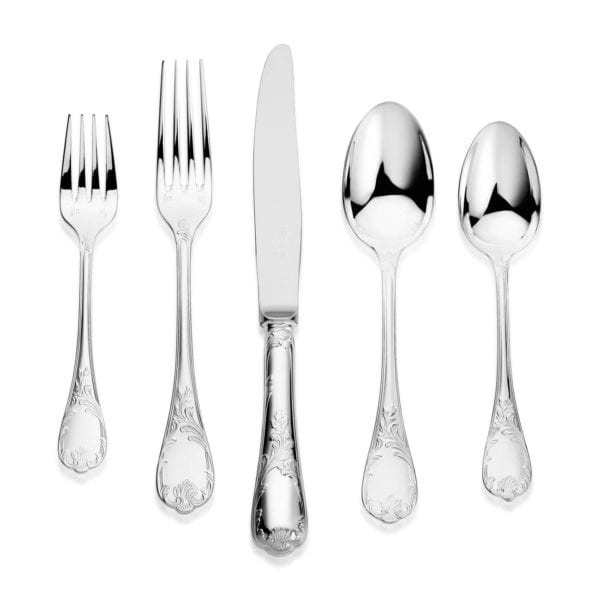 Christofle Marly Sterling Silver Five Piece Dinner Setting
