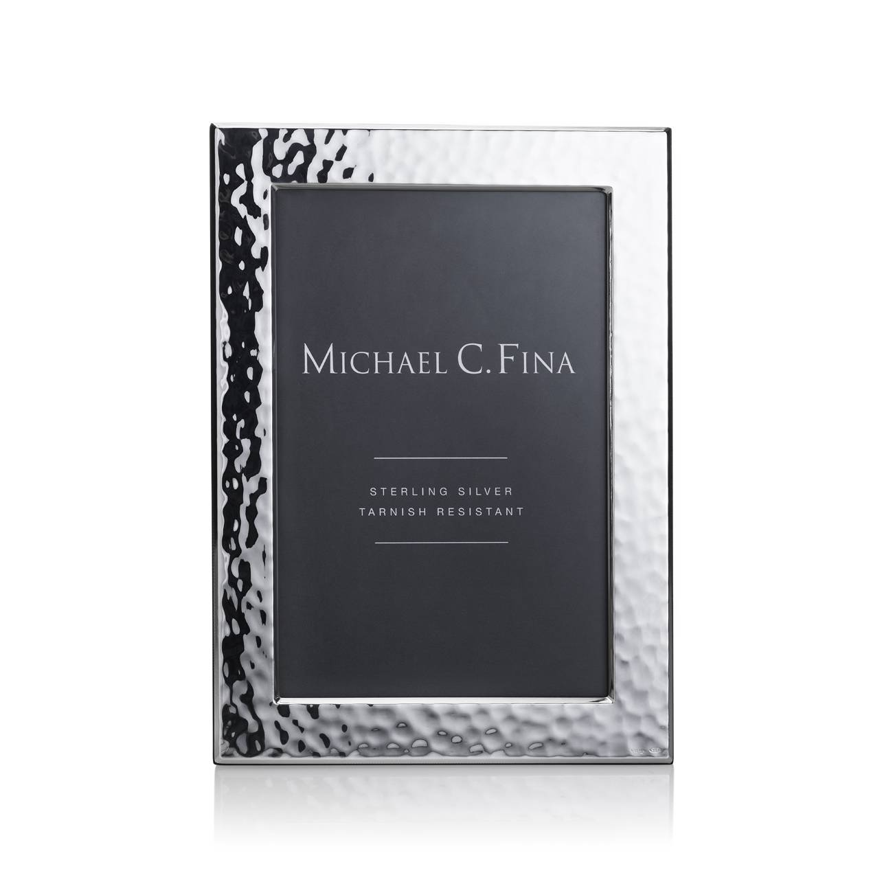 Michael C. Fina Greenwich Hammered Sterling Silver Frame 4x6