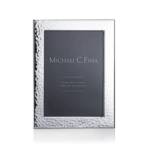 Michael C. Fina Greenwich Hammered Sterling Silver Frame 5x7