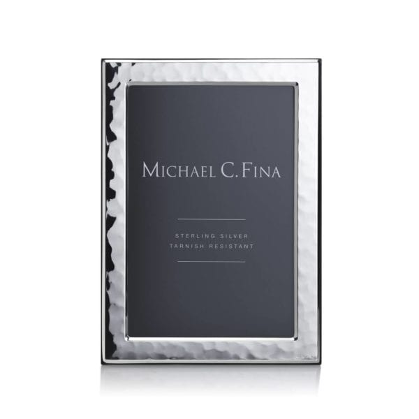 Michael C. Fina Manhattan Hammered Sterling Silver Frame 4x6